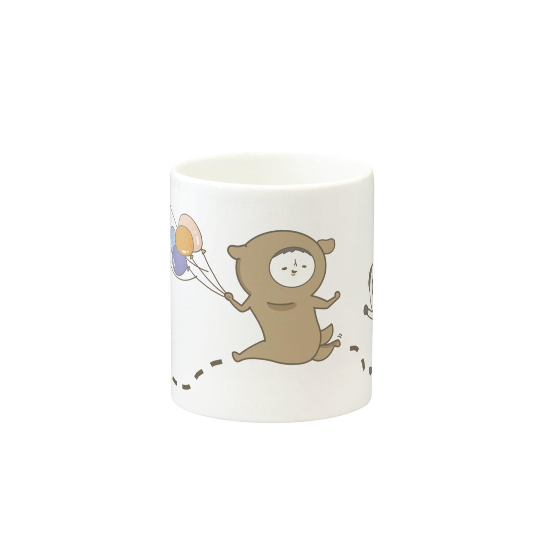 bono shopのぽちぼのマグカップ Mugsの取っ手の反対面