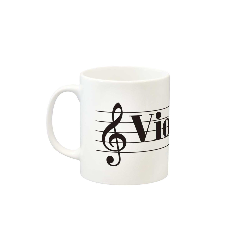 もりてつのViolin Life マグカップ