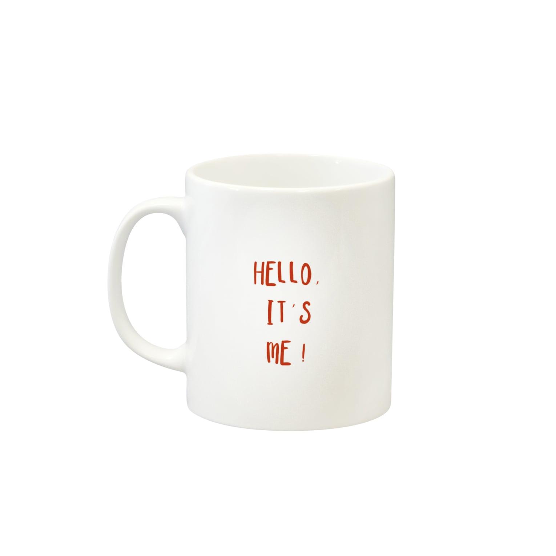 CORALの❈『hello,it's me !』mugcup ❈ Mugsの取っ手の左面