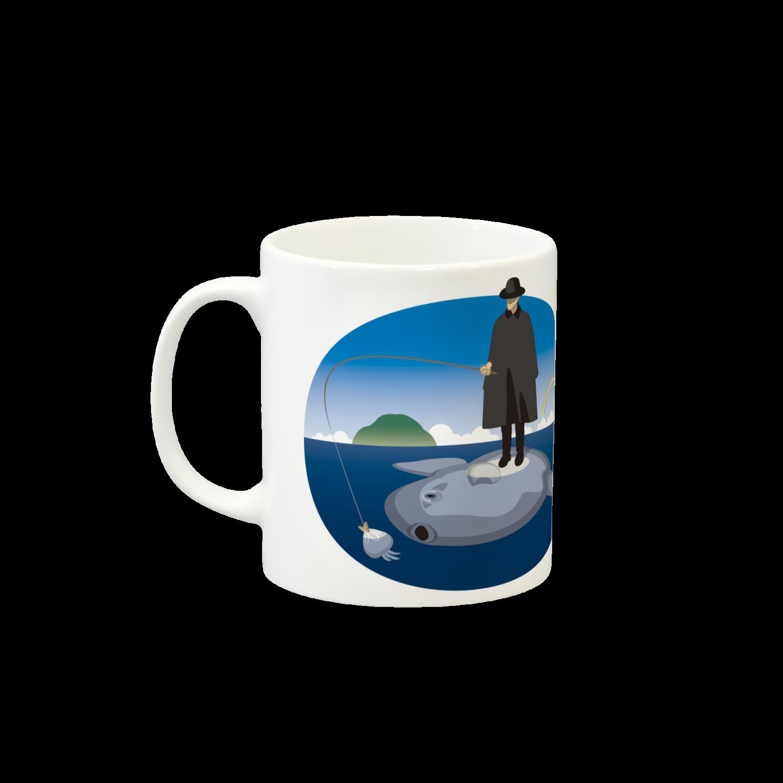 めぐみさらしのマンボウに乗った旅人マグカップ