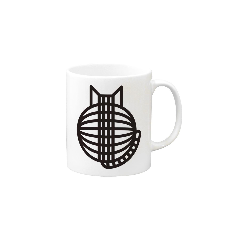 SHOP W SUZURI店の猫の丸い背中 マグカップ Mugs