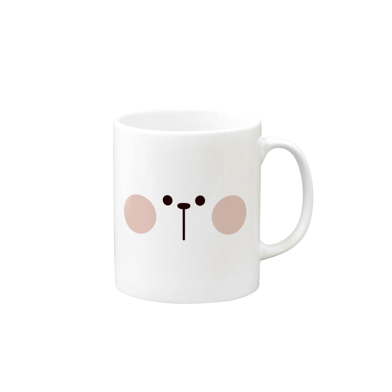AKIRAMBOWのSpoiled Rabbit - Face / あまえんぼうさちゃん - かお マグカップ