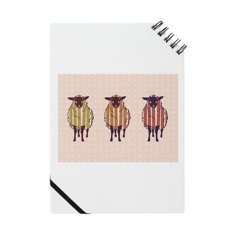 nikoharuの三匹の羊(ピンク) Notes