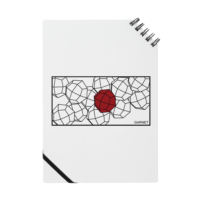 クリスタルポケットの鉱式-RECTANGLE.crystallogram8.1blackpaint-garnet Notes