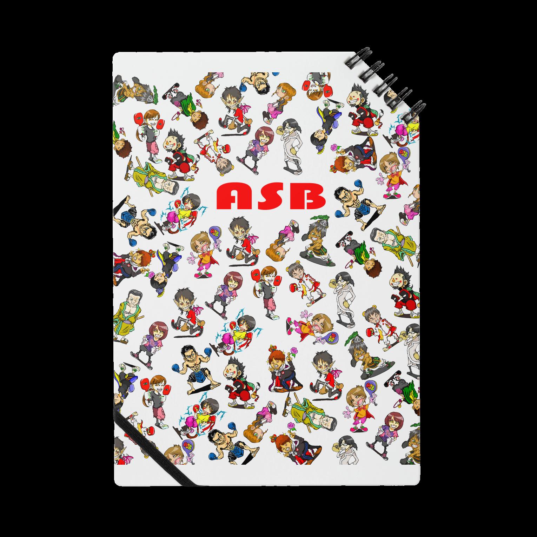 ASB boxingclub SHOPのASBスタッフキャラクターアイテム(白)ノート