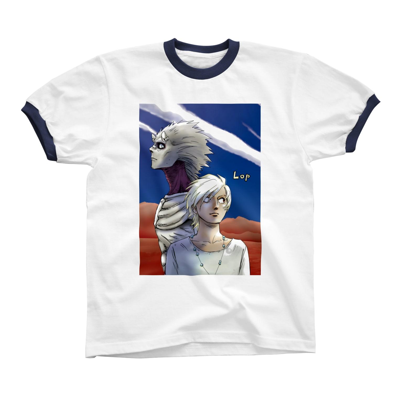 ストロウイカグッズ部のLOP リンガーTシャツ