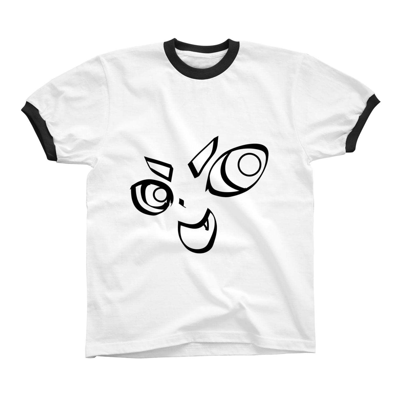 TarCoon☆GooDs - たぁくーんグッズのTarCoon☆FaCe Ringer T-shirts