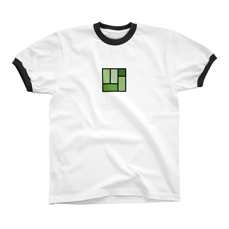 minato128のtatami リンガーTシャツ