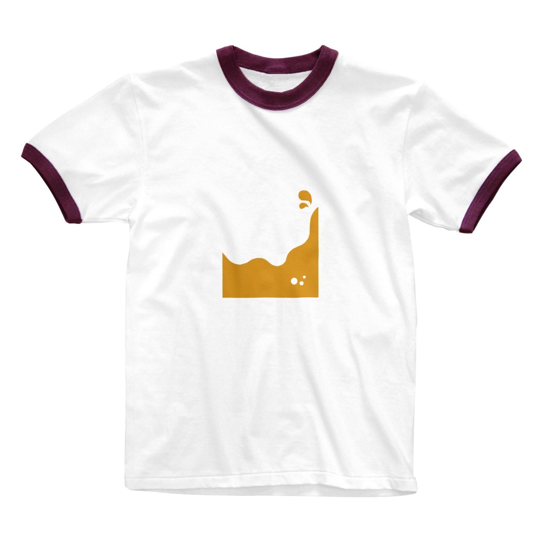 dolparchitectのキイロイ液体 Ringer T-shirts