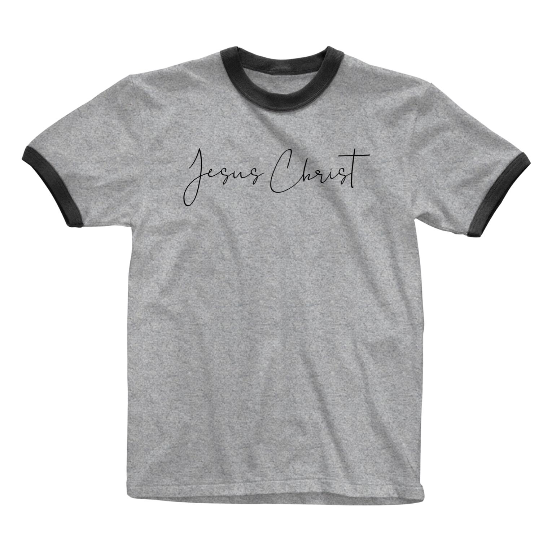 一羽のすずめのJesus Christ Ringer T-shirts