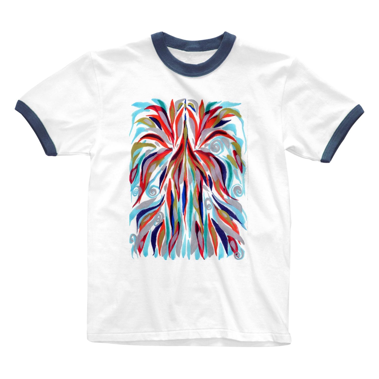 音楽工房田中(YouTuber,Music,Healing)の瀬織津姫.昇り Ringer T-shirts