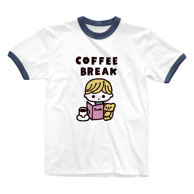 ayumi ikedaのCOFFEE BREAK Ringer T-shirts