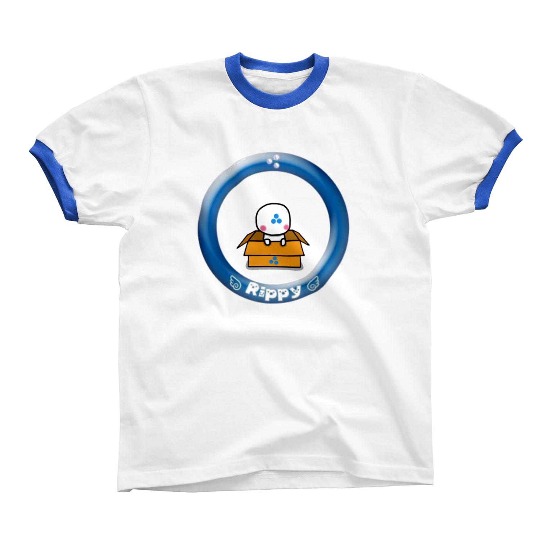 ビケ@BKF48 補欠のりっぴぃくんダンボールバージョン リンガーTシャツ
