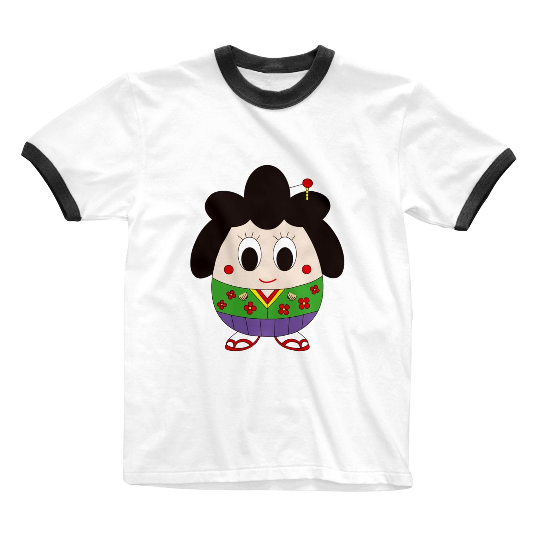 okosyanのおこしゃん Ringer T-shirts