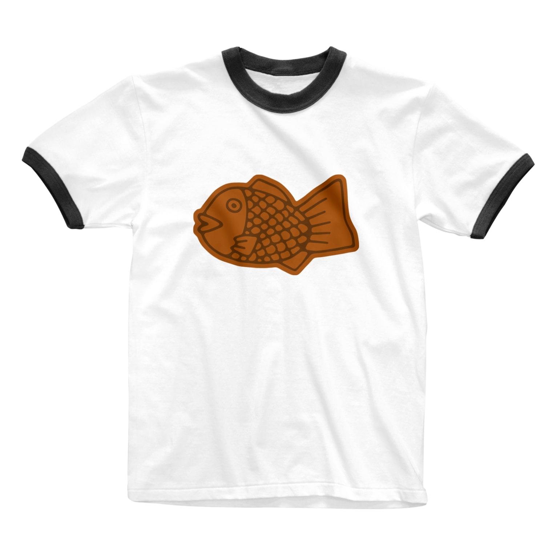 犬田猫三郎のたい焼き Ringer T-shirts