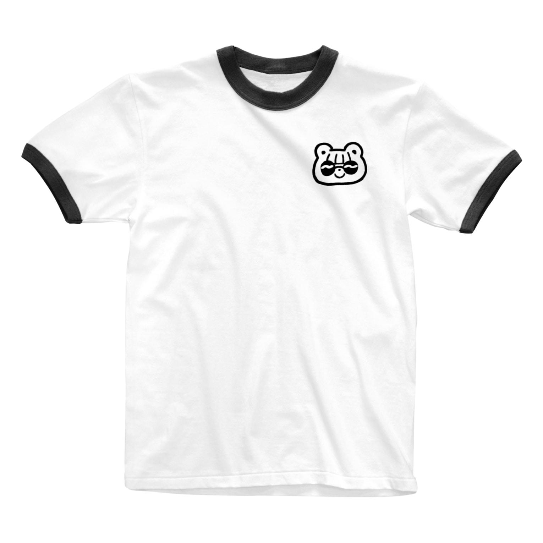 shiroi no. / シロイノのsunglasses kuma chan 😎 Ringer T-shirts