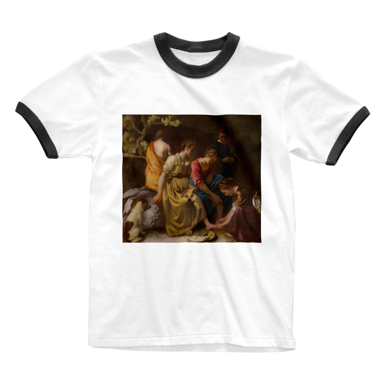 Art Baseのディアナとニンフたち / フェルメール(Diana and her Companions 1654) Ringer T-shirts