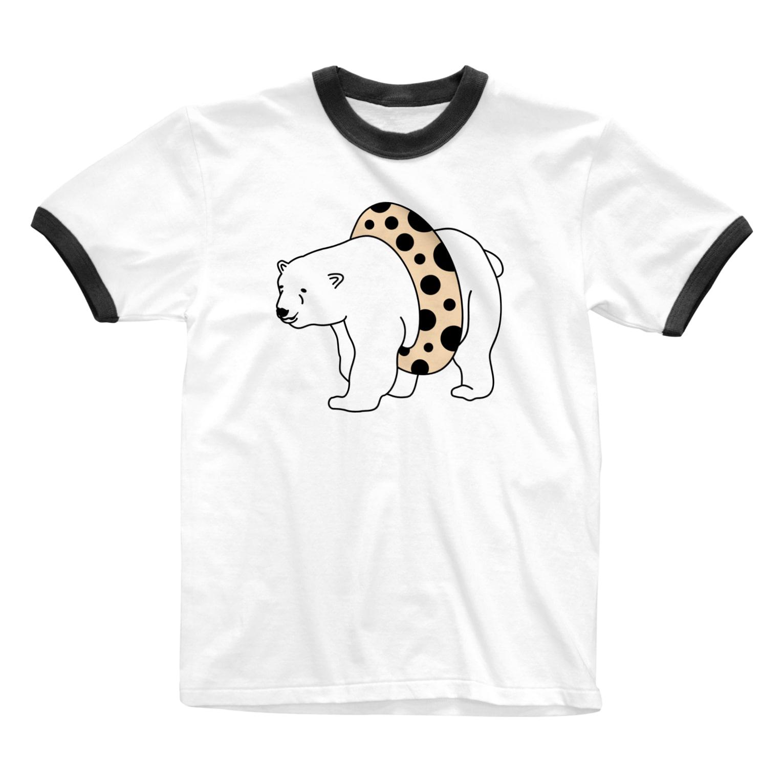 TakaJumpのTapioca White Bear Ringer T-shirts