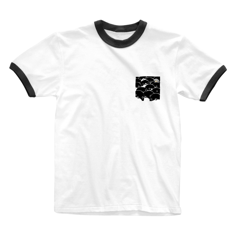 はさみやのぎゅーぺん Ringer T-shirts