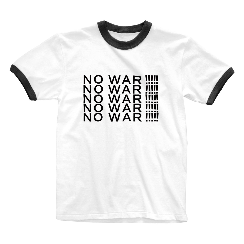 ヒラエイのNOWAR!!! Ringer T-shirts
