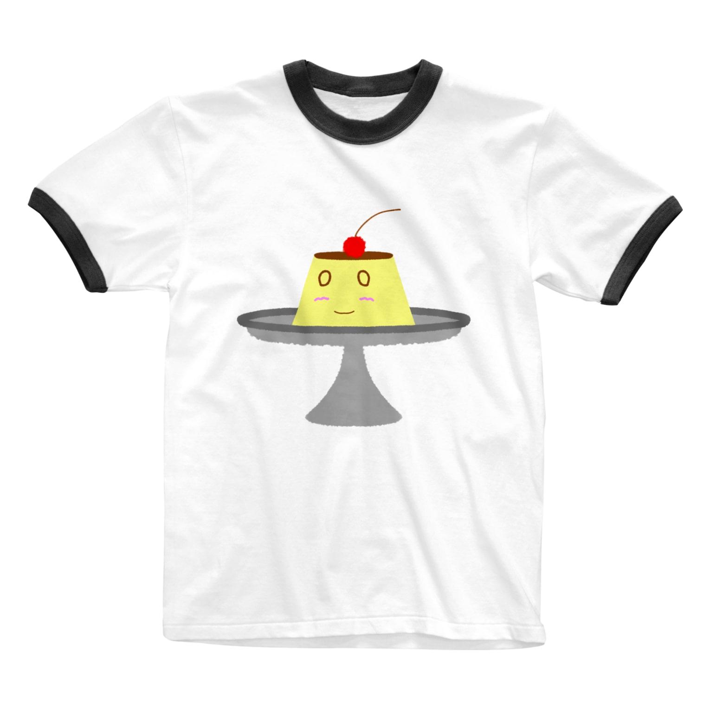 天獄堂のなんでもないぷりんさん Ringer T-shirts