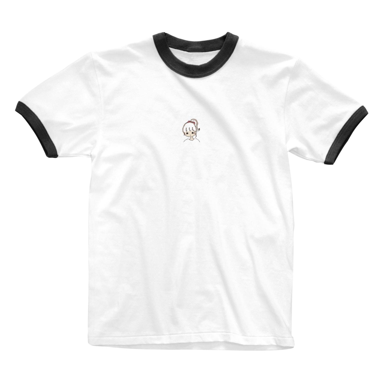 sacco's shopのポニーテールgirl Ringer T-shirts