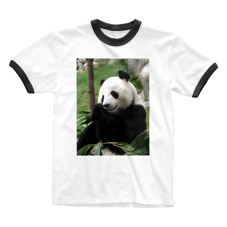HKG パンダの右奥歯で Ringer T-shirts