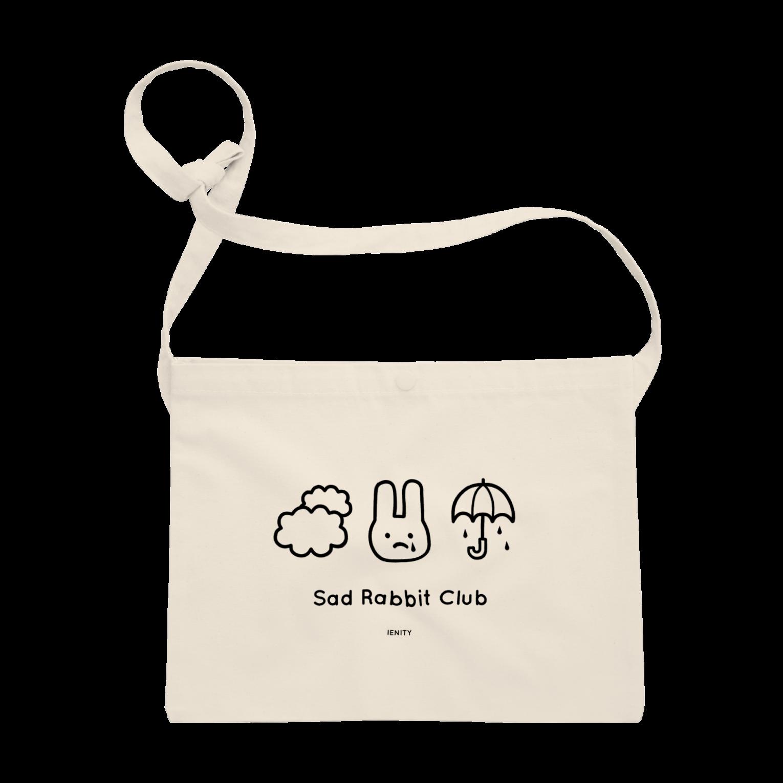 IENITY / MOON SIDEの【IENITY】Sad Rabbit Club #Blackサコッシュ