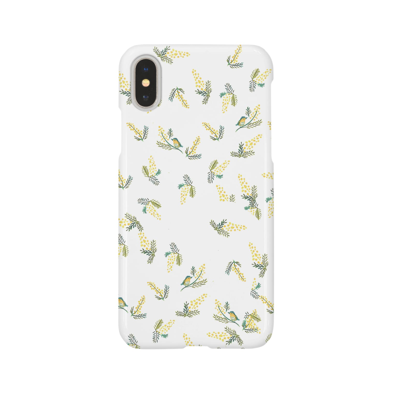 sampoのmimosa och bird Smartphone cases
