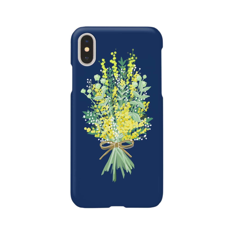menageのミモザ Smartphone cases