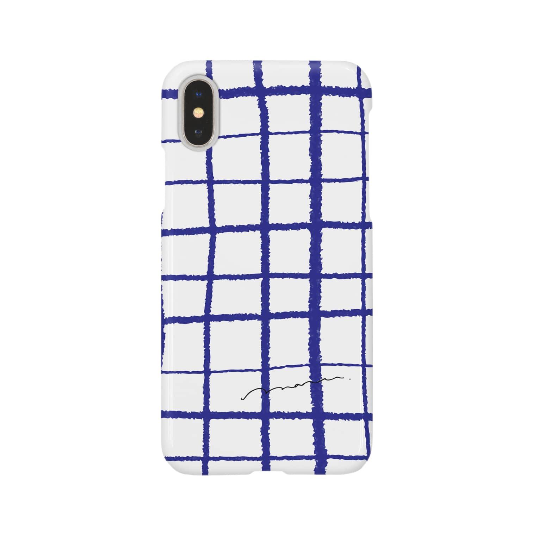 FUJIMARUのあお、チェック Smartphone cases