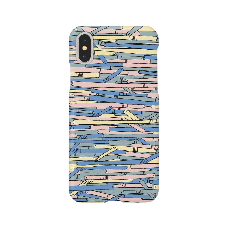 ayushopのストロー Smartphone cases
