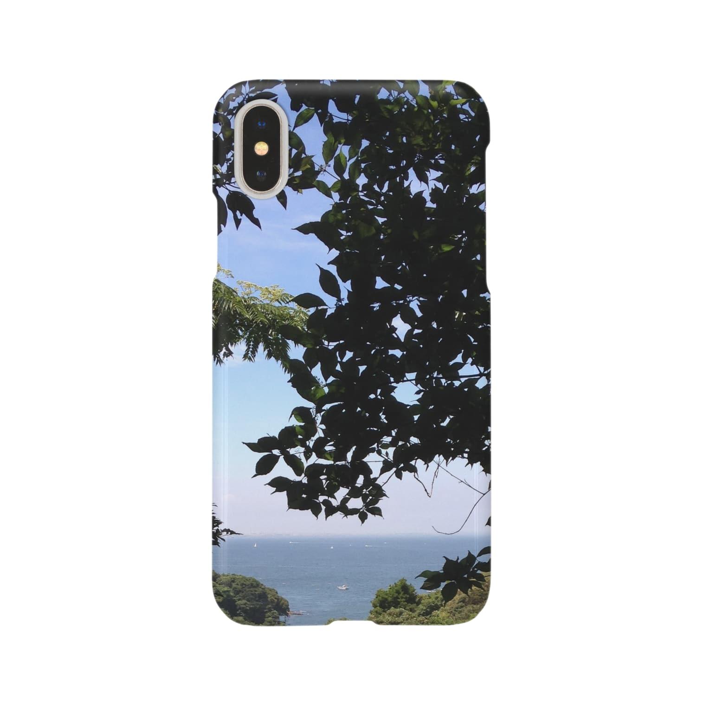 scents of eachの樹間から海 Smartphone cases