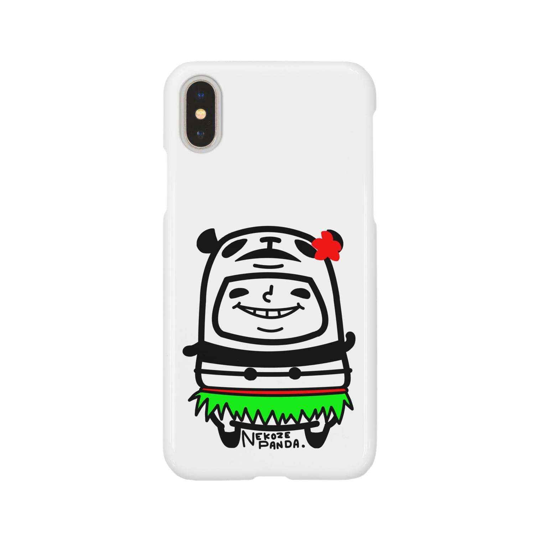 NEKOZE PANDAのハワイアンぱんだ Smartphone cases