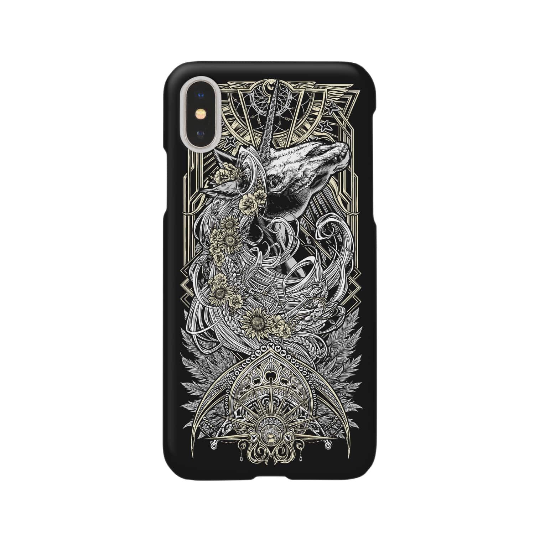 BLACKINK のTAROT - THE SUN. Black Smartphone cases