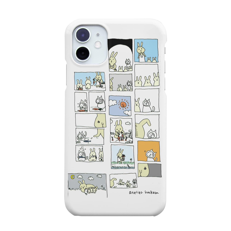 ほっかむねこ屋のうさぎかあさんとねこの子 iPhone11 Smartphone cases
