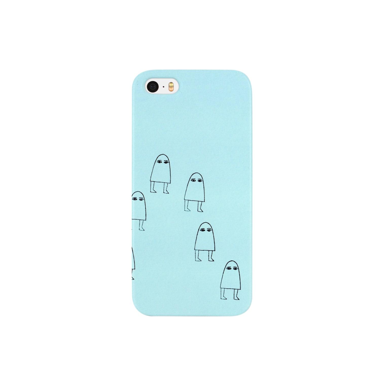Sylvia T Egyptのメジェド神 ブルー Smartphone cases