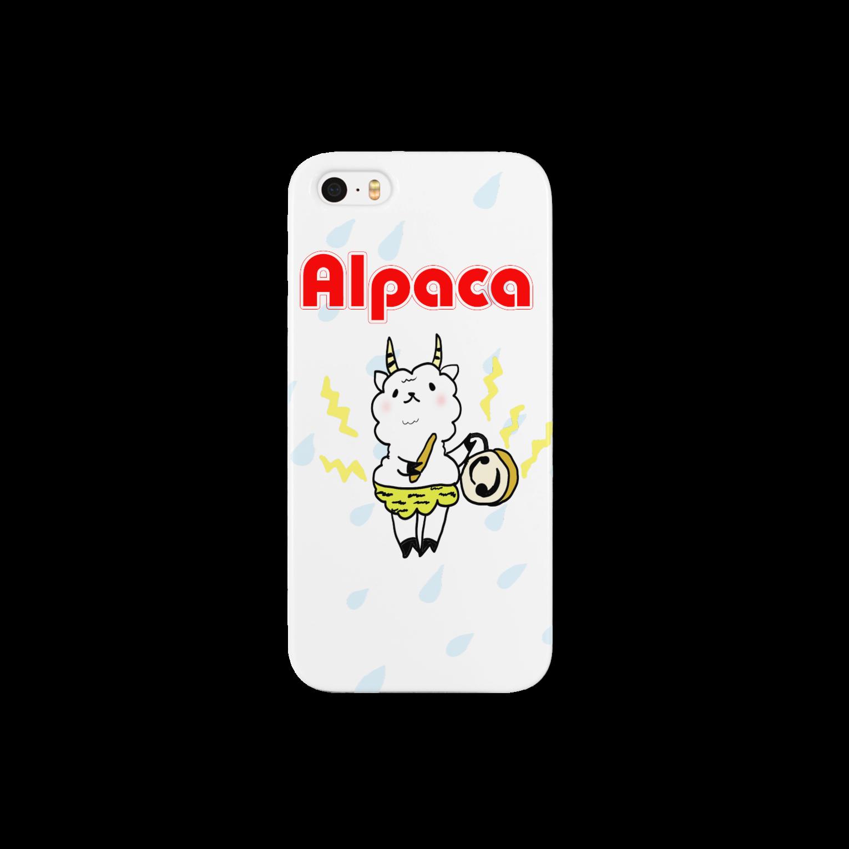 ぷりてぃアルパカのぷりてぃアルパカスマートフォンケース