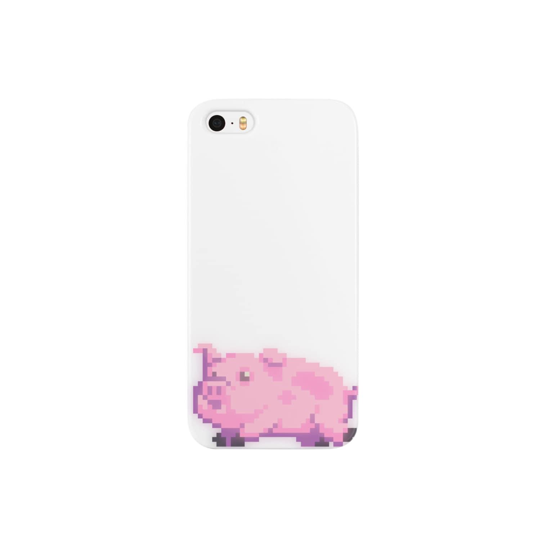 notteのピクセルPちゃん Smartphone cases