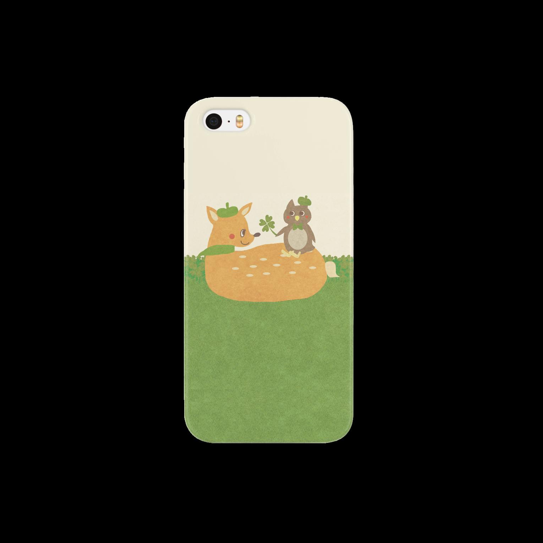 やたにまみこのiPhoneケース(iPhone5 / 5s用)◆ ema-emama『happiness-clover』スマートフォンケース