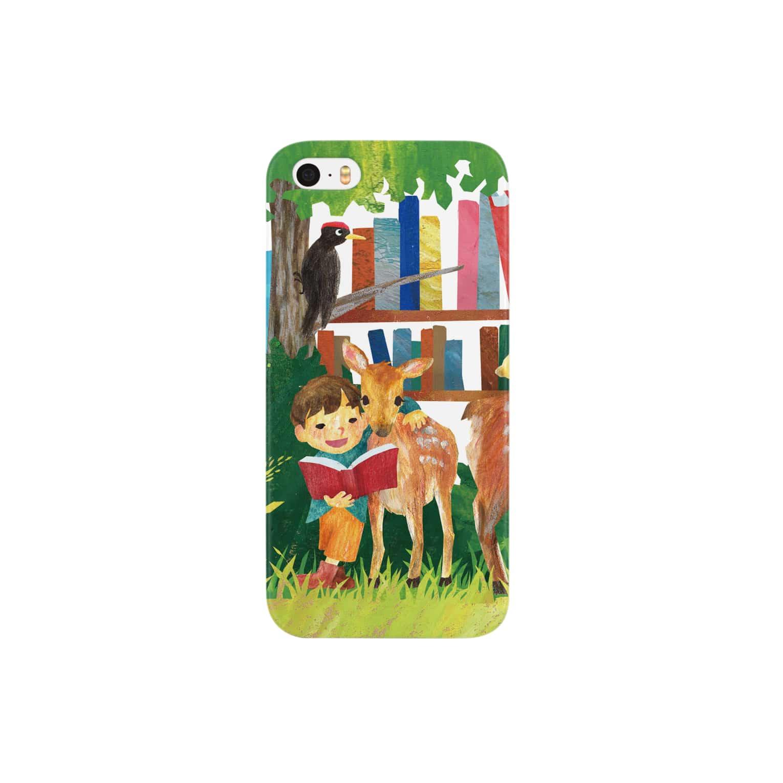 gomaphの小鹿と男の子 スマートフォンケース