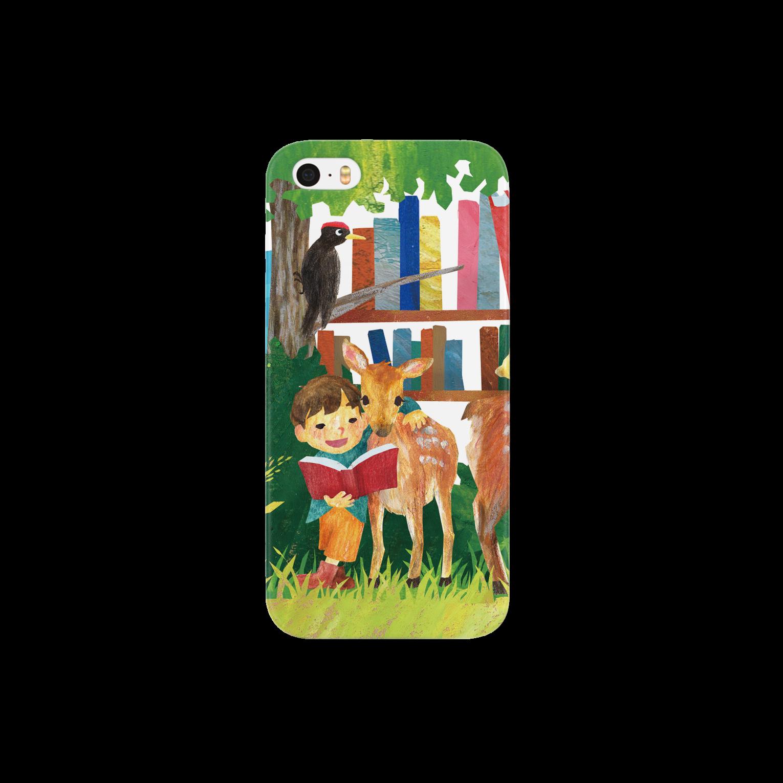gomaphの小鹿と男の子スマートフォンケース