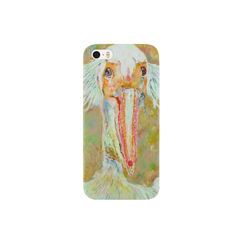 Un Petit Zooのモモイロペリカン Smartphone cases