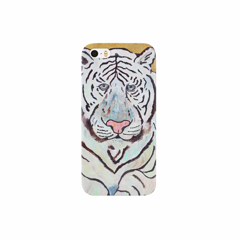 Un Petit Zooのホワイトタイガー Smartphone cases