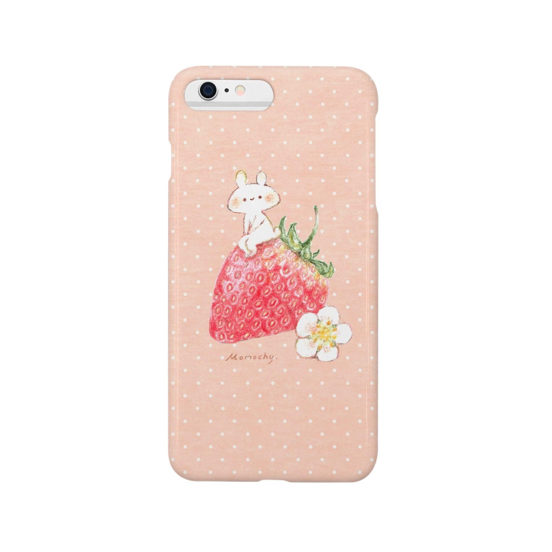 *momochy shop*のいちごうさぎ Smartphone cases