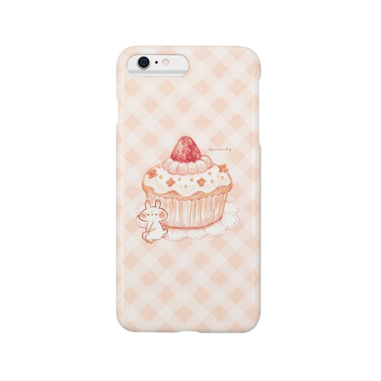 *momochy shop*のカップケーキとうさぎ Smartphone cases