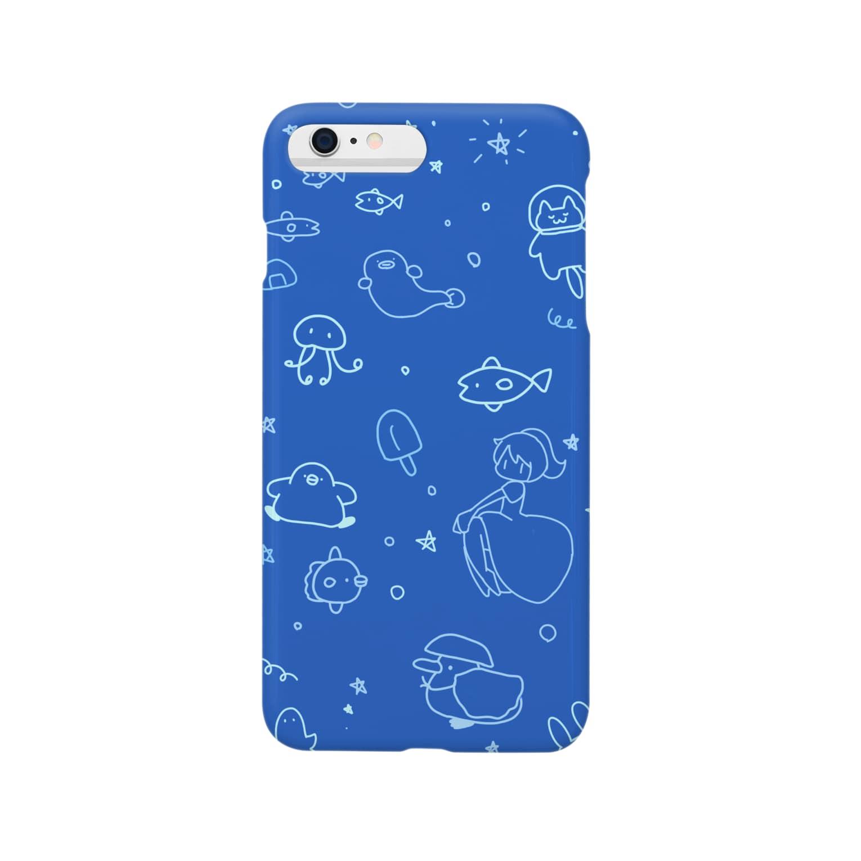 ちょこぺんのスペースペンギン Smartphone cases