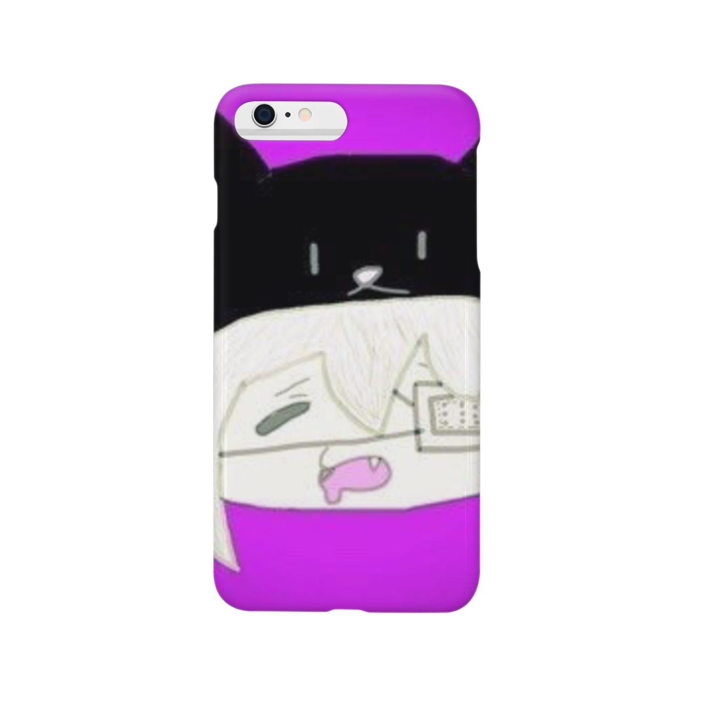 市イラストグッズショップの猫娘 Smartphone cases