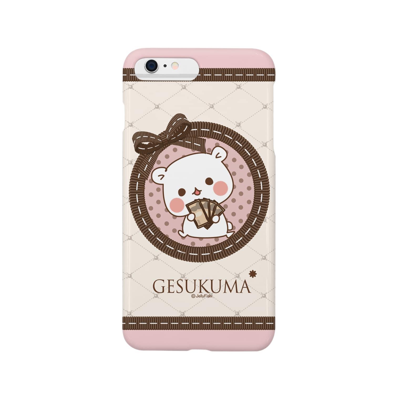jellyfish西川@毒舌あざらし公式のゲスくま☆スマホケースiphone6plus Smartphone cases