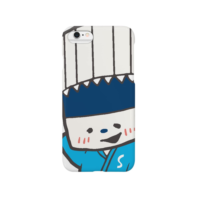 そうめん侍のそうめん侍「えへ...」 Smartphone cases